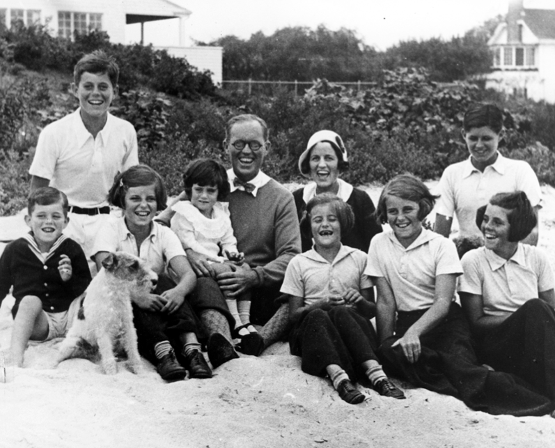 The Kennedy family at Kennedy Compound 1931